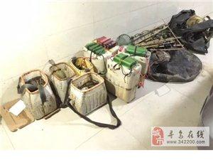 寻乌清理渔网400余米,行政处罚5人