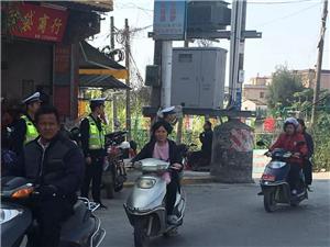 春节前交警执勤掠影
