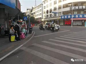 揭西县公安局交警大队奋力开展节前重点区域 交通秩序大管控行动