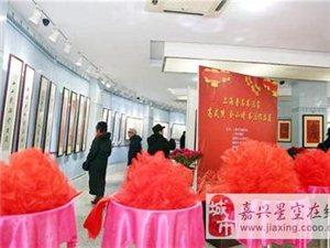 上海著名书法家嘉善办展送福气