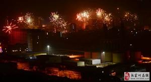 【大美张家川】除夕夜,张家川县城烟花绽放火树银花不夜天