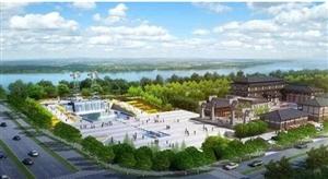 宿州市新汴河景观建设节点风车瀑布广场工程!