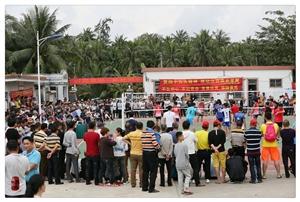 海南省排球精英邀请赛在中原镇沙坡村委会隆重举行