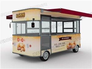 雅美可多功能小吃车、电动四轮车 可移动店车,餐车