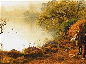 【原创】邛海的早晨~~~湖水盈盈,彩霞耀眼,山寺渔村,相映生辉