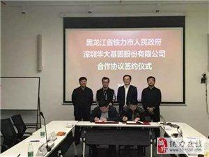铁力市与华大基因签署合作协议