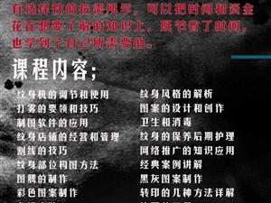 上海由龙2018年对安徽籍爱好者的纹身培训计划