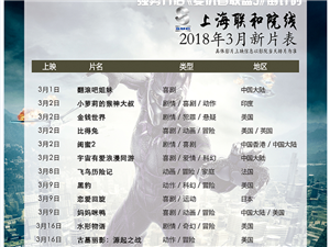 嘉峪关市文化数字电影城2018年3月12日排片表