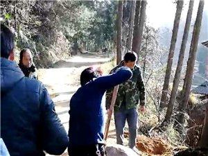 南郑县黄官镇何家沟村道路不硬化反被大石头堵截问题
