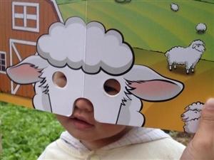可爱的逗乐面具