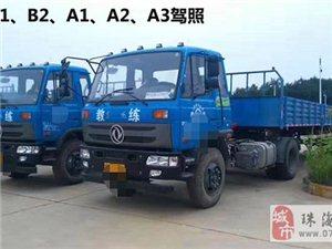 珠海增驾学车考a1a2b2拖头货车客车驾照只需两个月