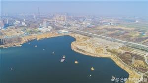 航拍:通许东湖照片(来源:新浪微博)