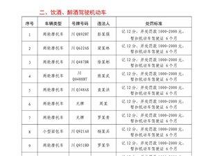 【兴文公安交警】2018年严重交通违法行为曝光台(第二期)