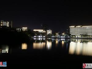 海口三角池华丽转身    夜景引人痴迷