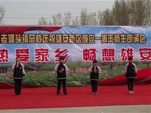 老河头镇总校举办庆祝雄安新区成立一周年师生朗诵会
