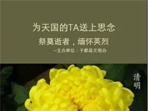 【提?#36873;�@于都人:全县禁火令,文明祭祀!清明祭英烈了