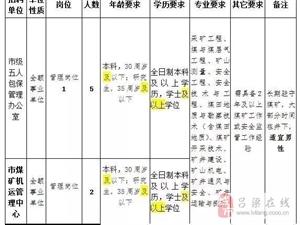吕梁煤炭局所属事业单位招聘工作人员