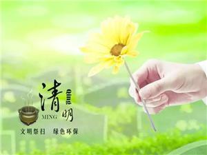 【我们的节日・清明】@揭西人,一份文明祭扫倡议书,请您查收!