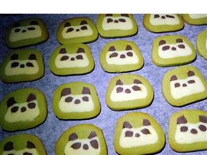 教你做熊猫萌图小饼干~