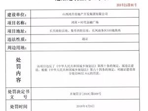 太原5家房地产开发商无证越证被查处