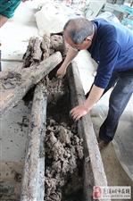 蓬溪疑似船棺出土物已开封盖:非墓葬物