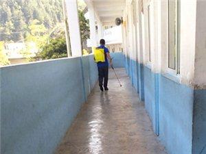优德88金殿:预防和控制传染病,光辉小学对校园进行全面消毒