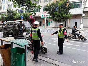 揭西交警奋力开展打击整治摩托车违法专项整治行动