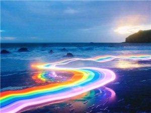 彩虹穿过森林,看到的人会好运连连