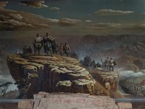 河北涉县大型油画:抗日战争中的八路军129师!