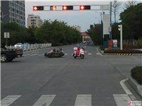 两个美女是怎么在红绿灯处撞上的?我低个头就撞上了!