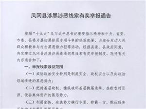 凤冈县涉黑涉恶线索有奖举报通告
