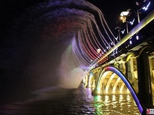 长春南湖大桥音乐水幕喷泉