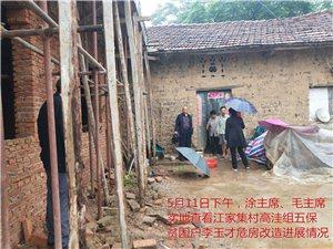 县政协领导冒雨视察江集村扶贫项目