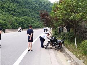 汉中车祸,摩托车司机当场死亡