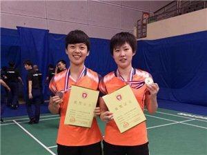 """热烈祝贺我县二中学生在威克多""""杯全国青少年羽毛球锦标取得优越成绩"""