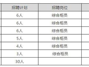 """长安银行汉中分行""""就业扶贫""""招聘公告"""