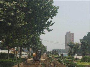 南�h主路�c�o路正在施工修路
