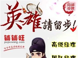 【招聘】铺铺旺集团武功电商中心人才急聘!!!