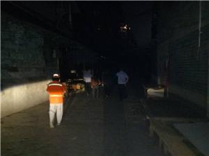 广安区城管执法局集中整治综合市场