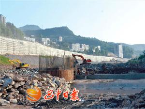 通江县锦江花园闸坝主体工程预计六月底完工