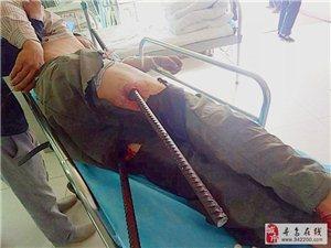 寻乌一男子失足跌入地下室,2米长钢筋直穿双腿,紧急抢救捡回一条命!