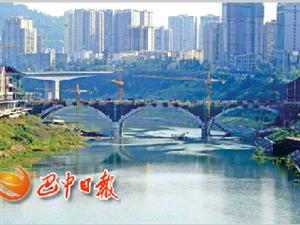 市重点项目巴河廊桥建设进展顺利