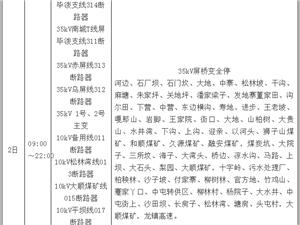 镇雄电网 2018 年6月(全月) 停 电 公 告