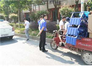 黄梅县城区禁麻工作进行时