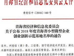 """柴达木青年创业孵化基地被评为""""青海省小微型企业创业新示范基地"""""""