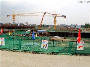 2018年6月2日,广汉房产体育场板块,奥园玖珑湾工地实拍(组图)