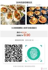 """特价""""9.9元""""抢购堕落小龙虾生蚝或扇贝4个"""