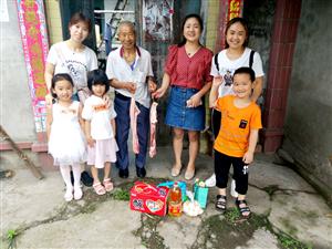 大邑县潘家街幼儿园开展端午节敬老献爱心活动