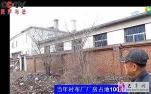 巴彦县兴隆镇隆青村关于衬布厂规划用地上了中央台民声与法栏目