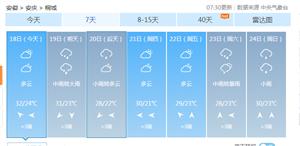 安徽桐城:暴雨预警[下雨][下雨][下雨]